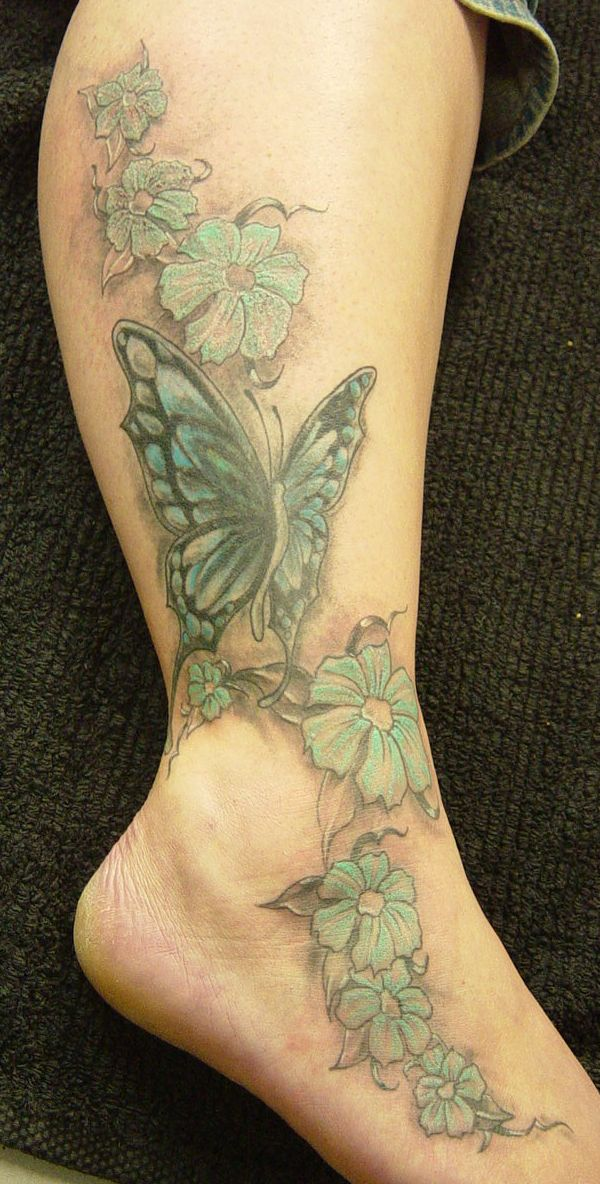 Coloured Butterfly Face Tattoo photo - 1