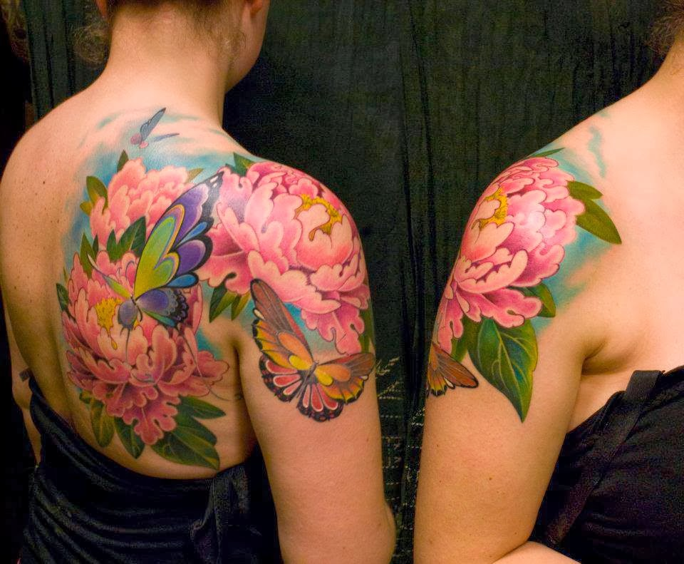 Colourful Butterfly Tattoo on Arm photo - 2