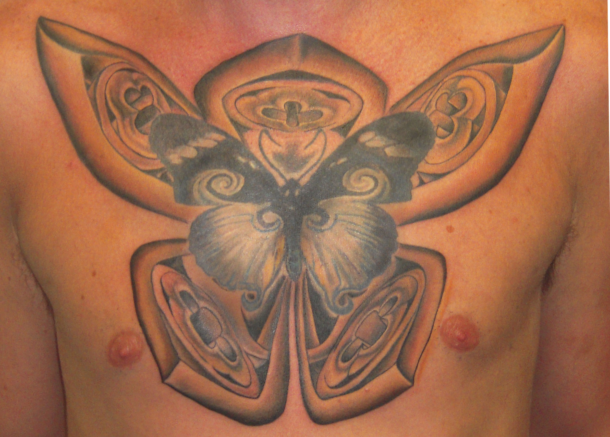 Cool 3D Butterfly Tattoo For Boys photo - 1