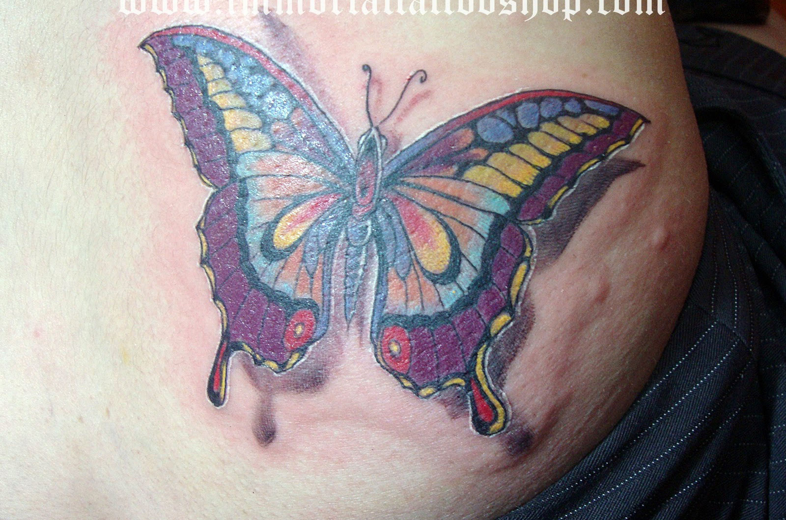 Cool 3D Butterfly Tattoo For Boys photo - 2
