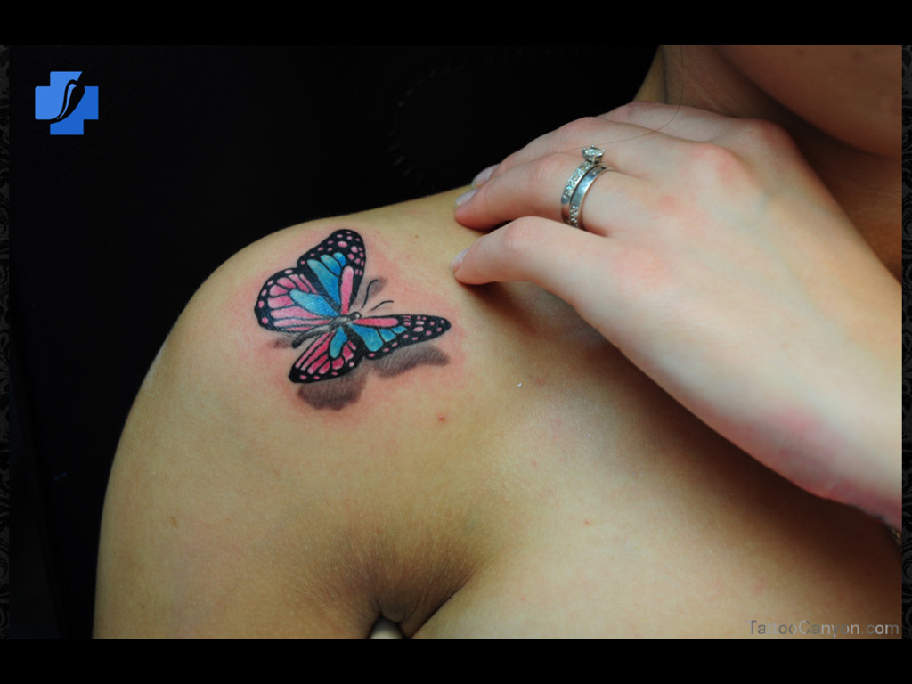 Cool 3D Butterfly Tattoo For Boys photo - 3