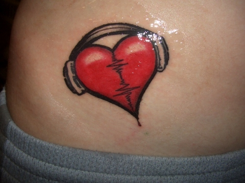 Cool Heart Tattoo On Wrist For Girls photo - 3