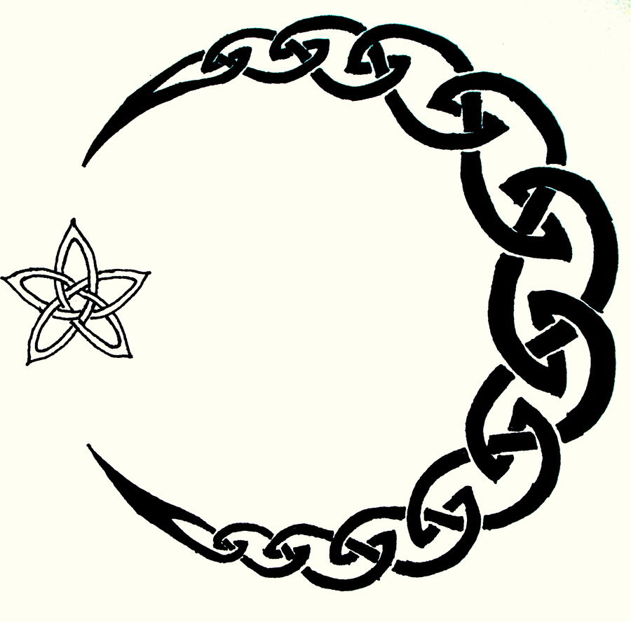 Crescent Moon And Star Tattoo Designs photo - 1