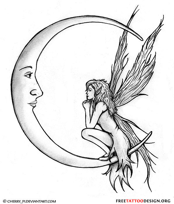 Crescent Moon Tattoo For Ankle photo - 2
