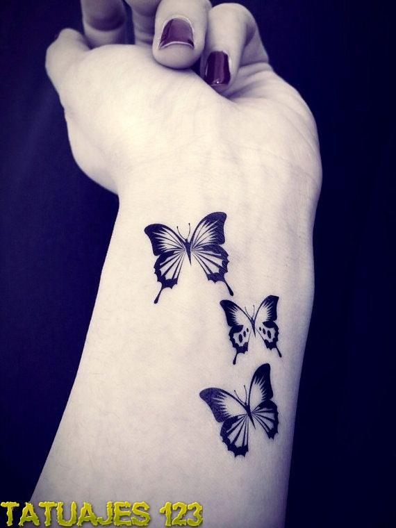 Cute Butterfly Tattoo in the Moon photo - 1