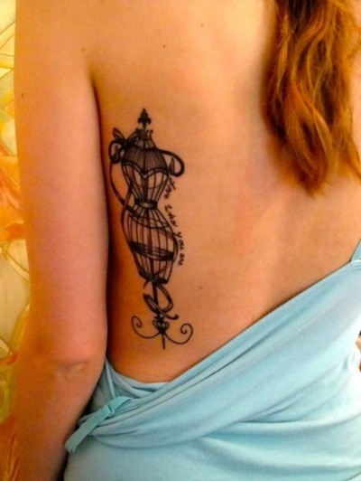 Cute Phases Of Moon Tattoos On Back photo - 2