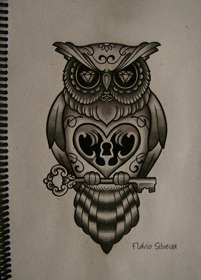 Cute Tree And Owl Tattoos On Fingers photo - 1