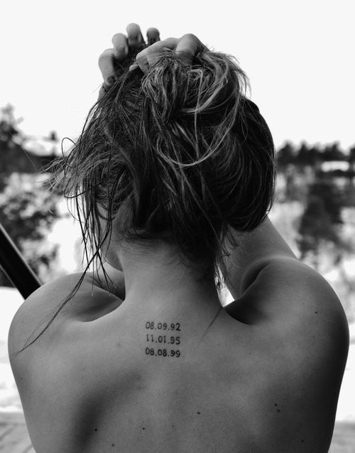 Date Tattoos On Back Neck photo - 1