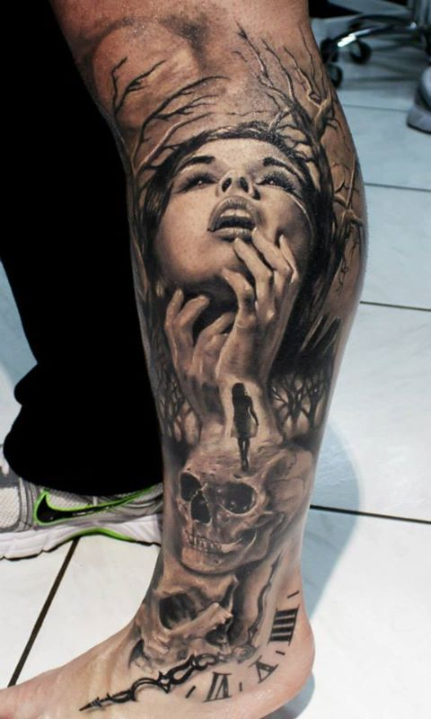 Death Leg Tattoo photo - 1