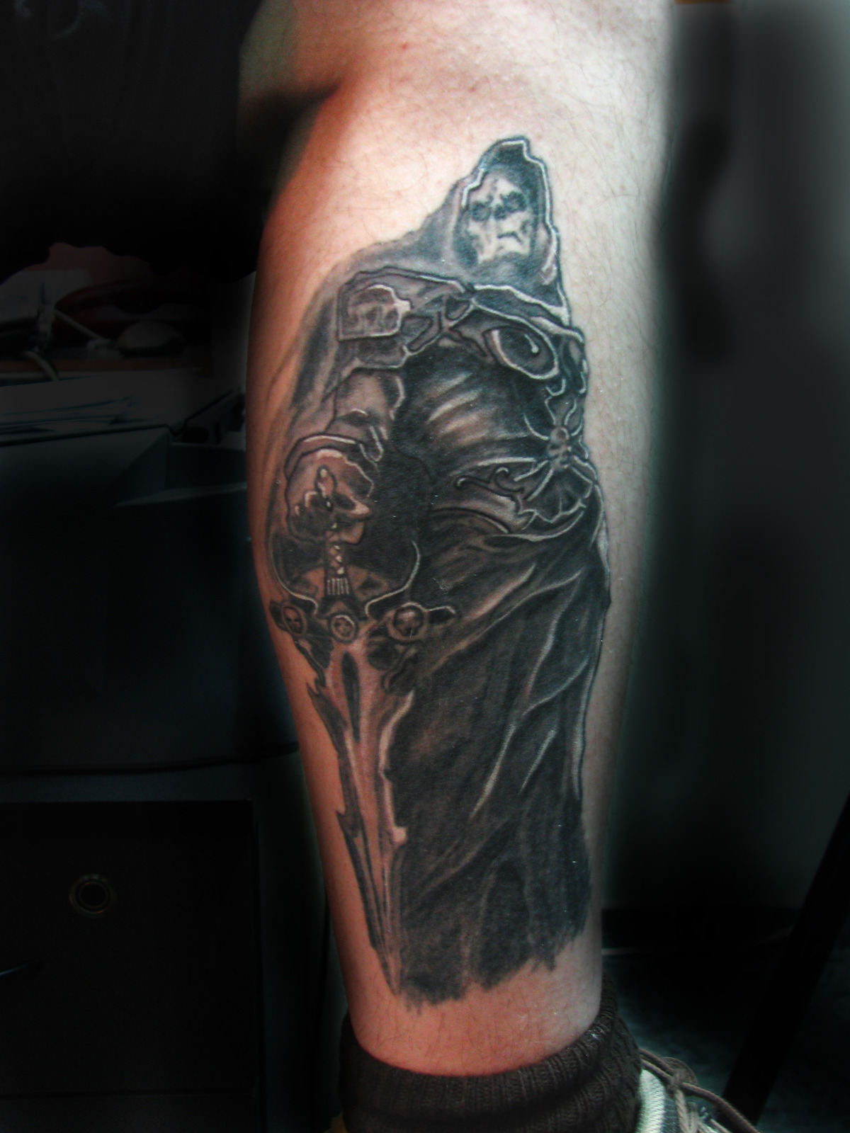 Death Leg Tattoo photo - 2