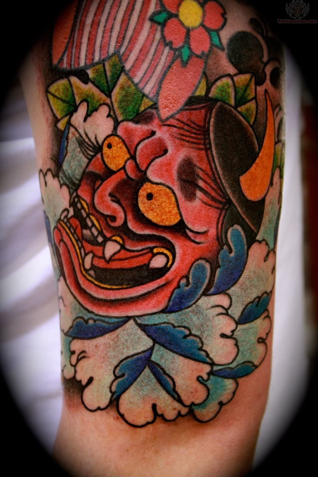 devil mask tattoo on ankle in 2017 real photo pictures images and sketches tattoo collections. Black Bedroom Furniture Sets. Home Design Ideas
