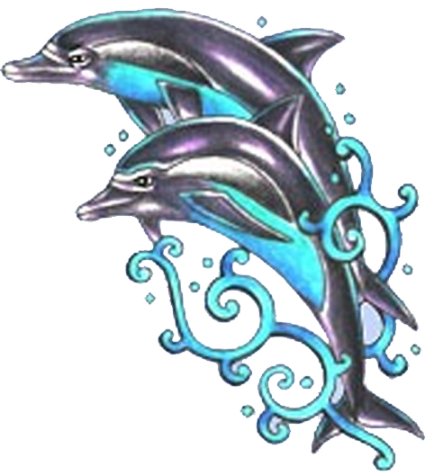 Dolphin And Tribal Tattoo Sample photo - 2