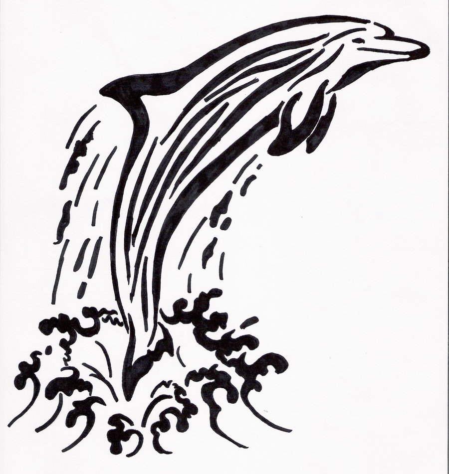 Dolphin Tribal Tattoo Design photo - 2