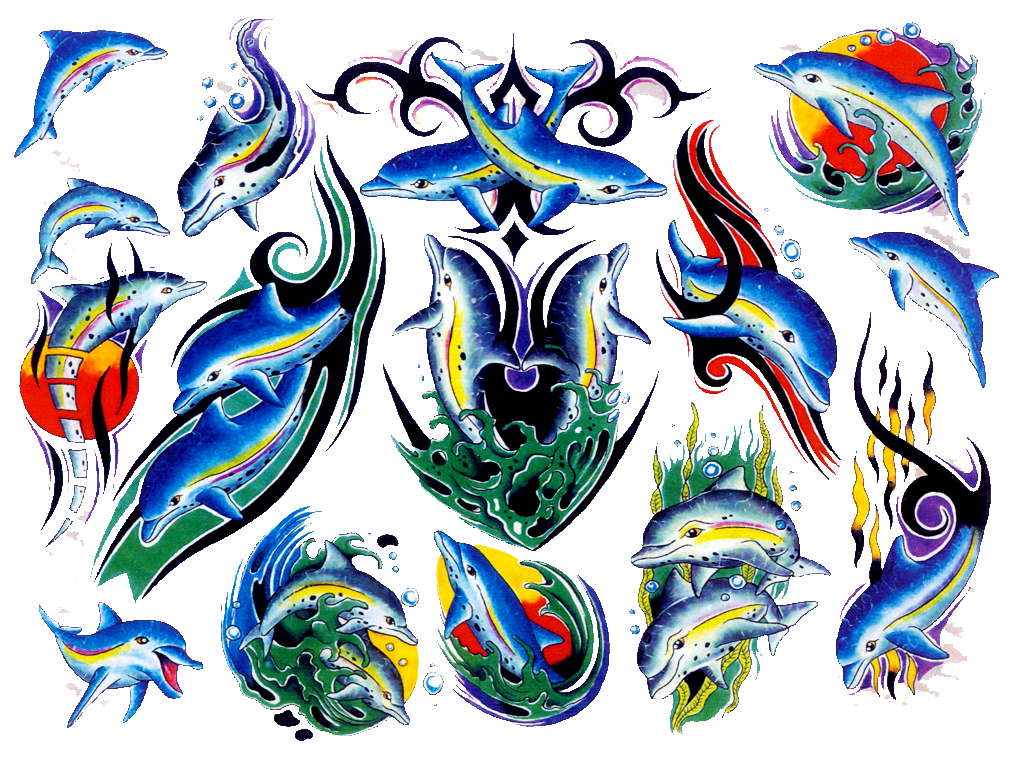 Dolphin Tribal Tattoo Design photo - 3