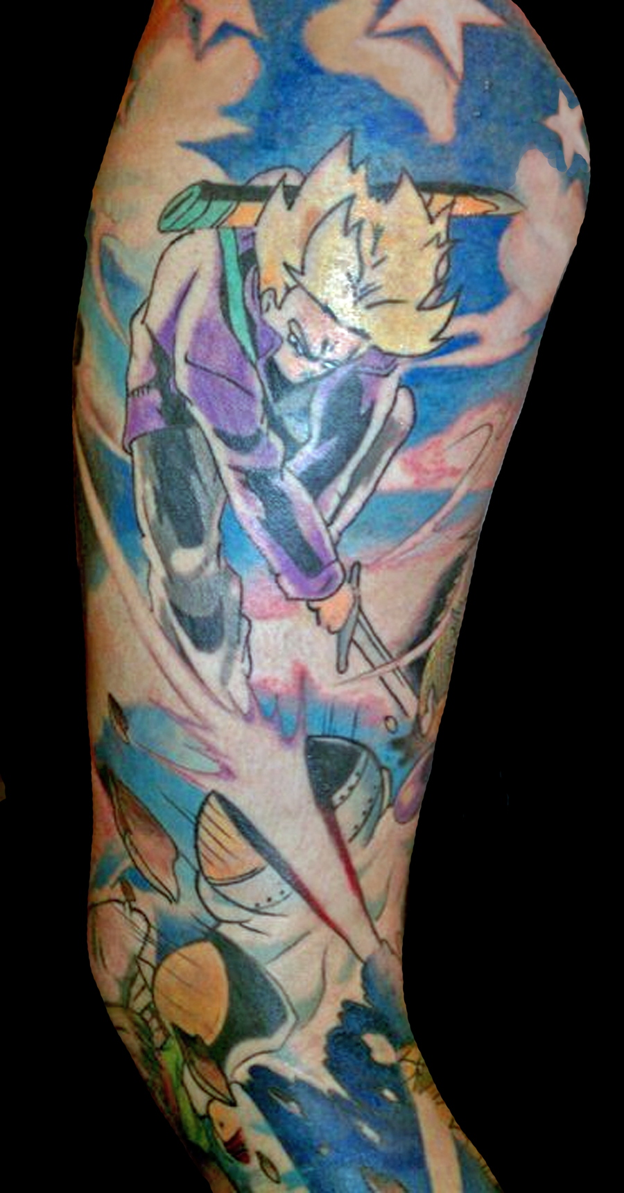 Dragon Ball Z Leg Tattoo Design photo - 2