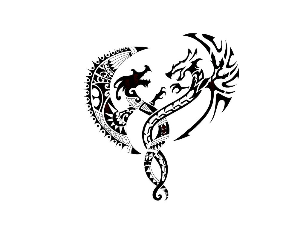 Dragons Butterfly Eagle Tattoo Designs photo - 3