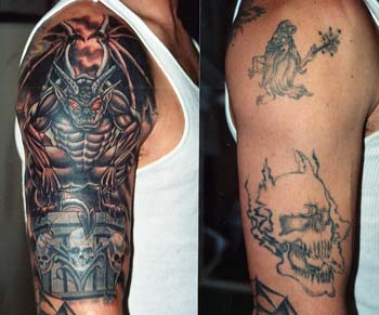 Dreadful Gargoyle Tattoo On Right Shoulder photo - 1