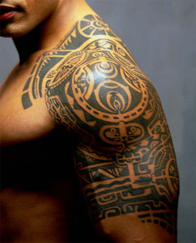 Dwayne Johnson Tribal Tattoos photo - 3