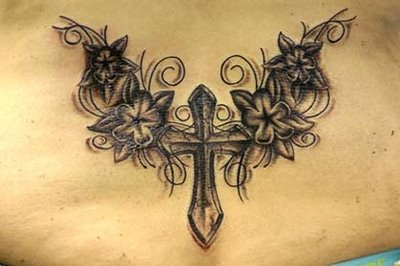 Elegant Cross Celebrity Tattoo photo - 1