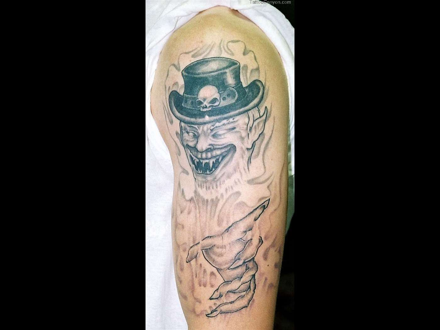 Evil Leprechaun Tattoo For Shoulder photo - 1