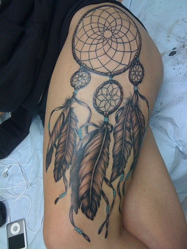 Eye Stomach Owl With Moon Tattoo photo - 2
