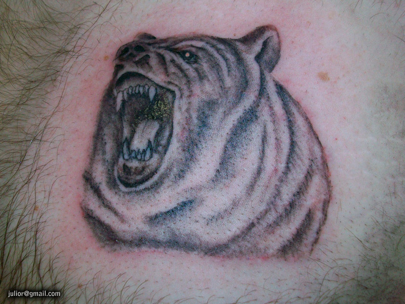 Fabulous Tribal Bear Tattoo On Shoulder photo - 3