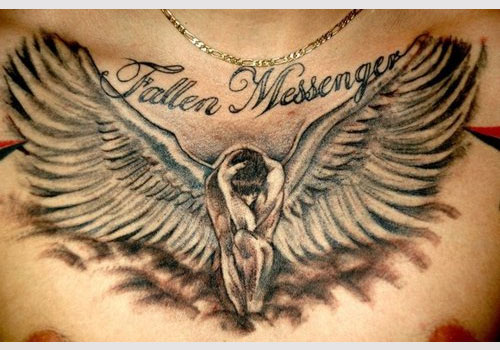 Fallen Messenger Angel Tattoo Design photo - 1