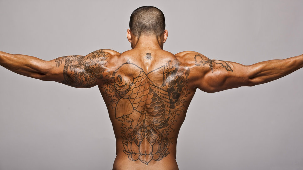 Fantastic Grey Octopus Tattoo On Shoulder To Chest photo - 1