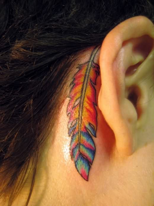 Feather Tattoo On Back Of Arm photo - 1