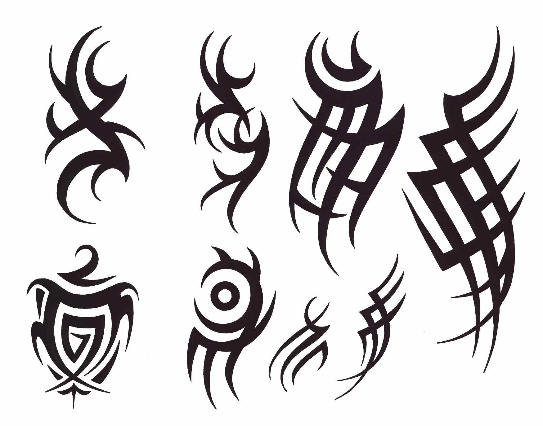 Few Tribal Tattoo Design photo - 1