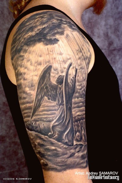 Fighter Angel Tattoo On Arm photo - 1