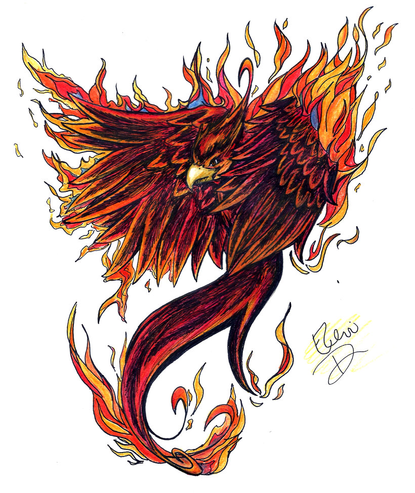 Flaming Phoenix Tattoo Image photo - 1
