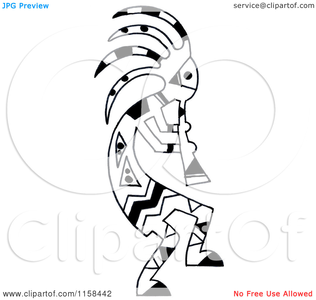 Flute Player Kokopelli Tattoo Design photo - 1
