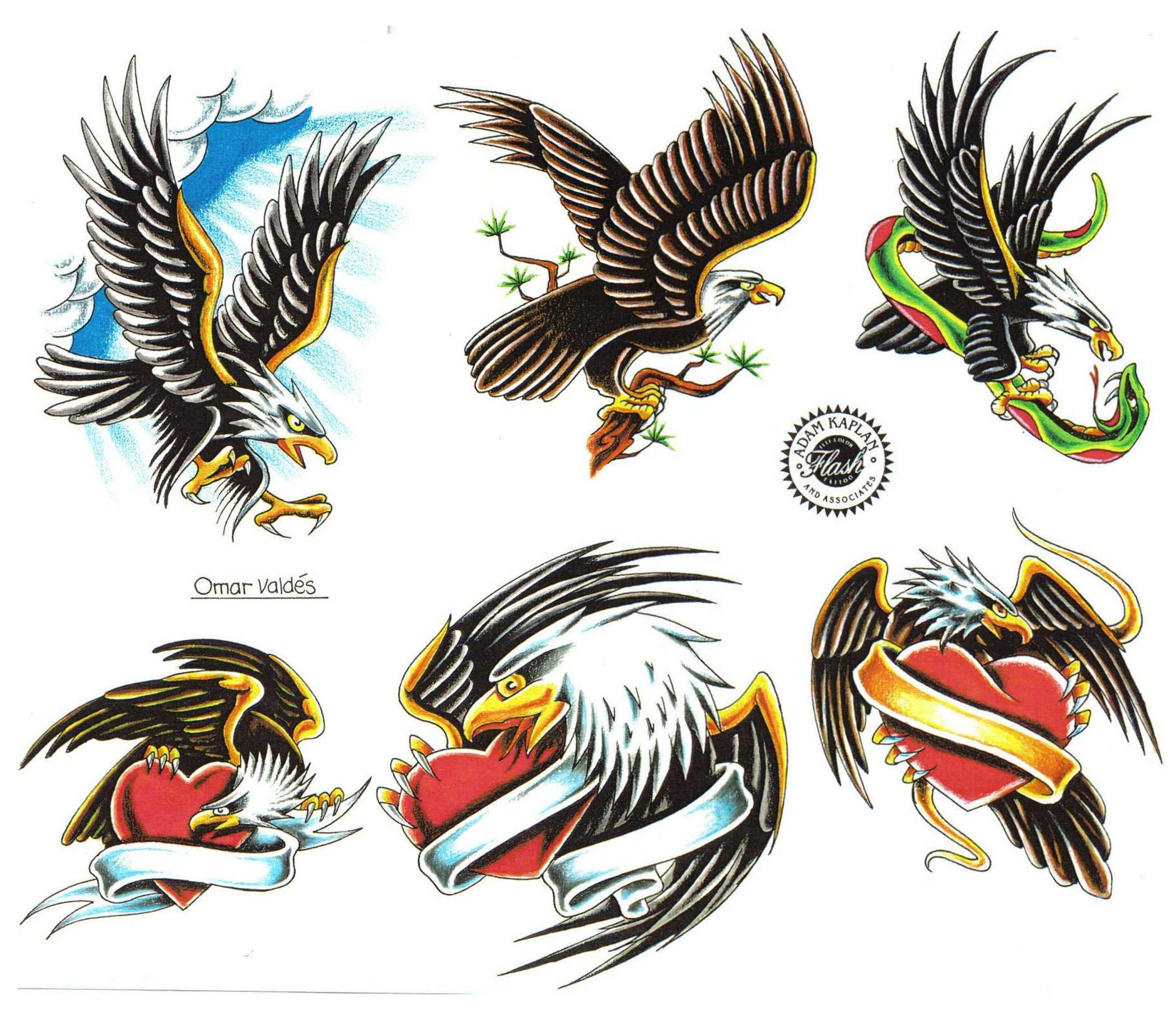 Flying Eagle And Tribal Tattoo Designs photo - 1