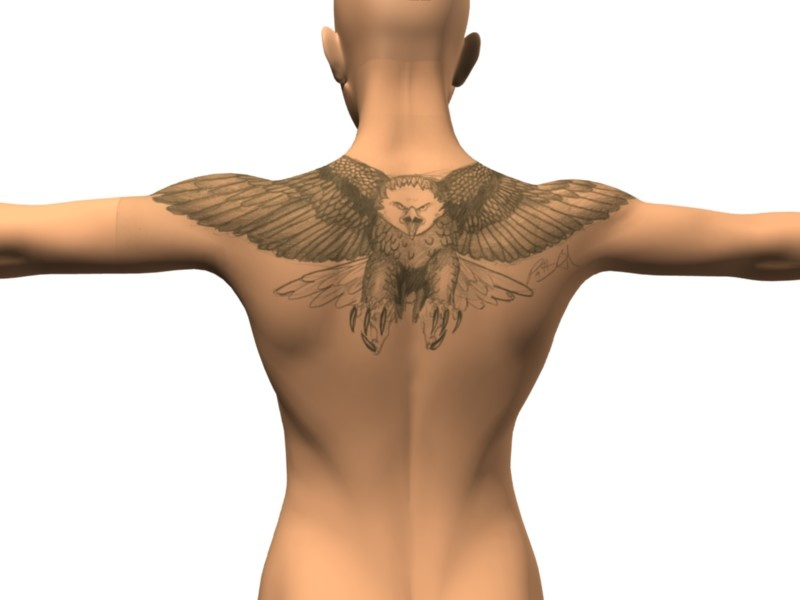 Flying Eagle And Tribal Tattoo Designs photo - 3