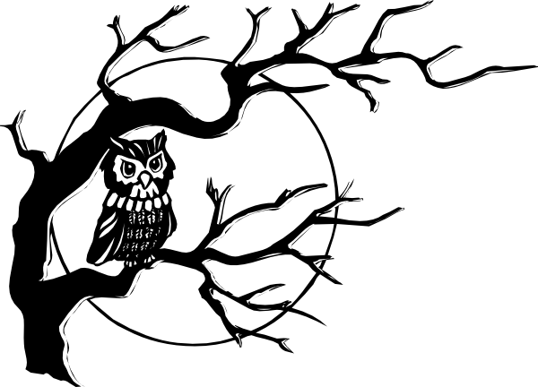 Flying Owl Tattoo Stencil photo - 1