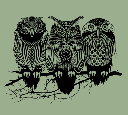 Flying Owl Tattoo Stencil photo - 3