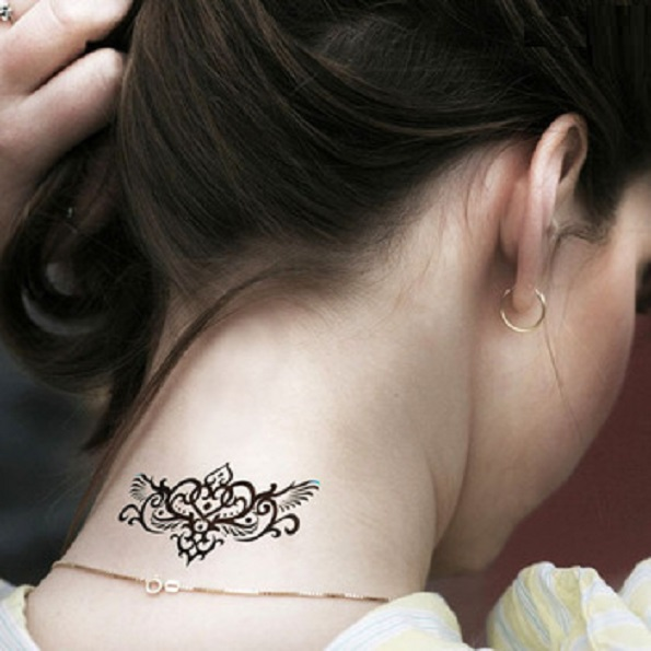 Free Temporary Back Neck Tattoo For Girls photo - 2