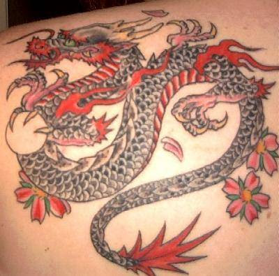 Full Back Western Dragon Tattoo For Guys photo - 1