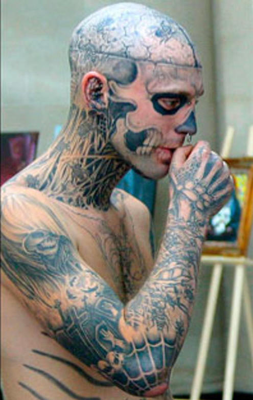 Full Face And Neck Tattoos photo - 2