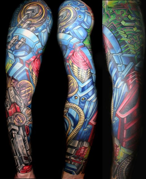 Full Sleeve Biomechanical Tattoo photo - 1