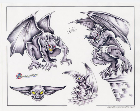 Gargoyle Dragon Tattoo Design photo - 1