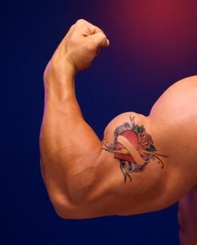 Gargoyle Tattoo On Muscles photo - 1