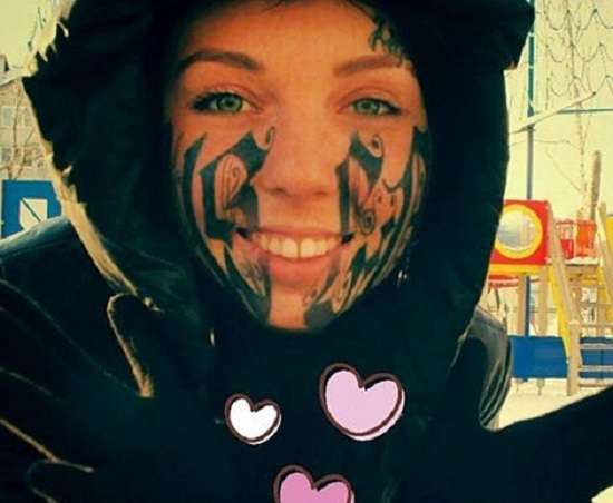 Girl Face Extreme Tattoo photo - 1