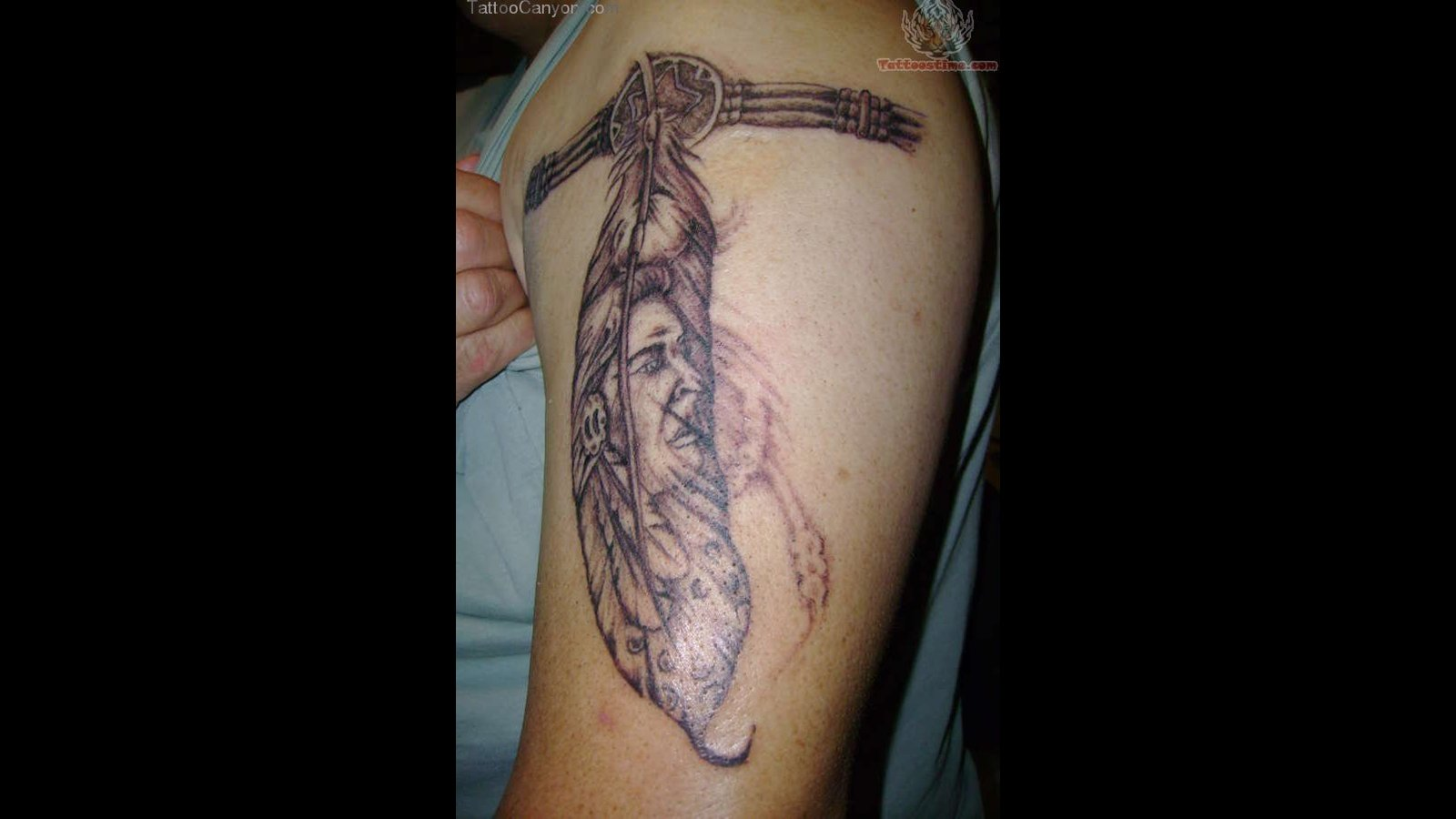 Glowing Indian Feather Tattoo Design photo - 1