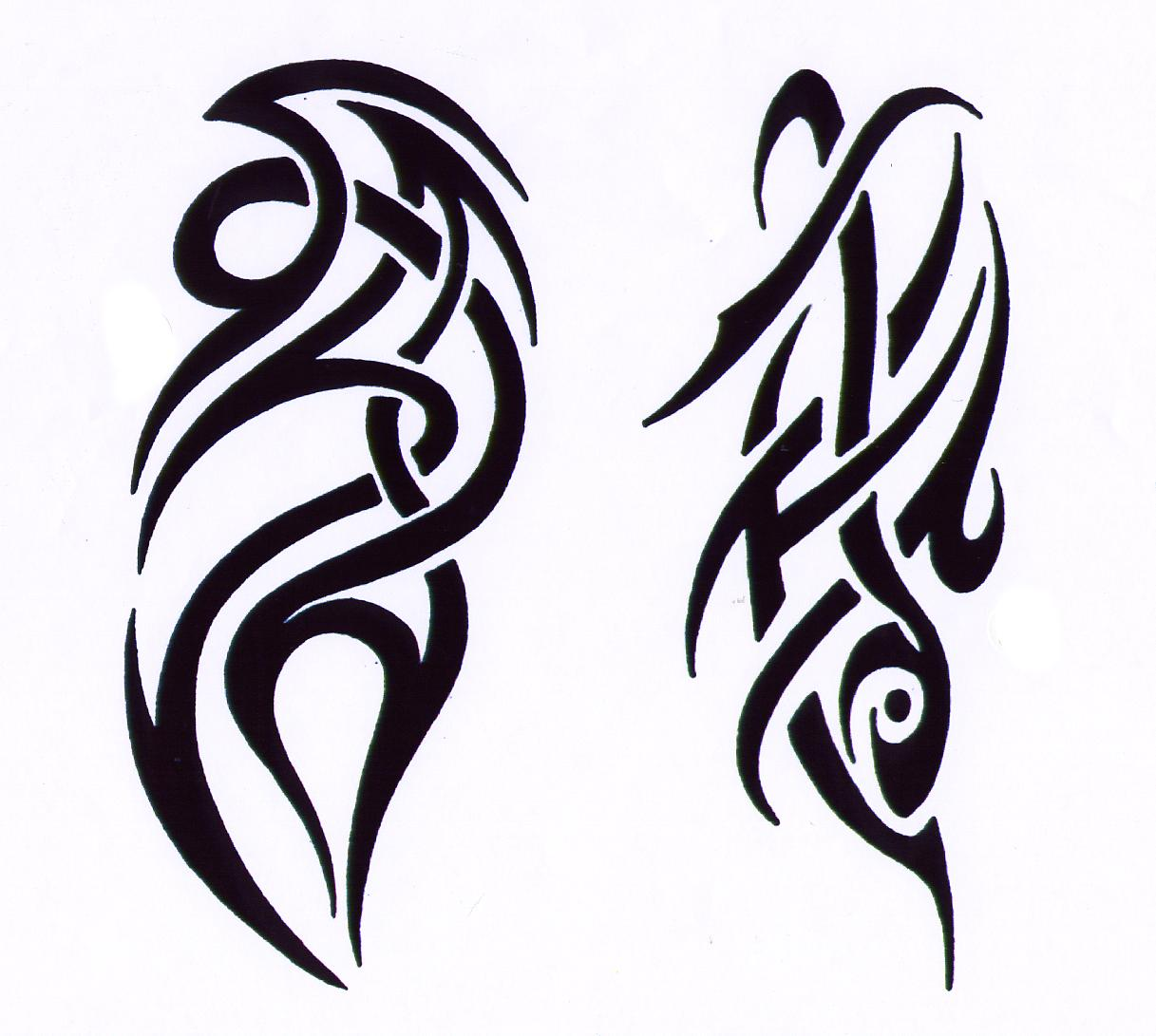 Gothic Tribal Tattoo Deisgn photo - 2
