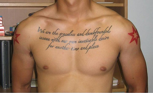 Greek Writing Tattoo On Ribs photo - 1