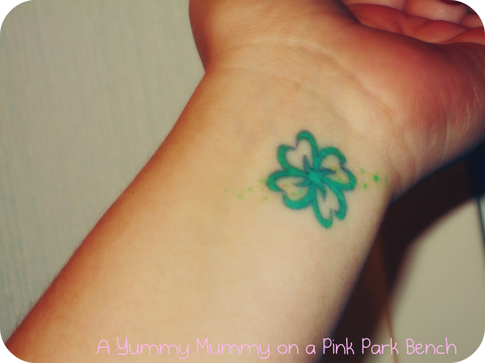 Green Clover Tattoo For Wrist photo - 2