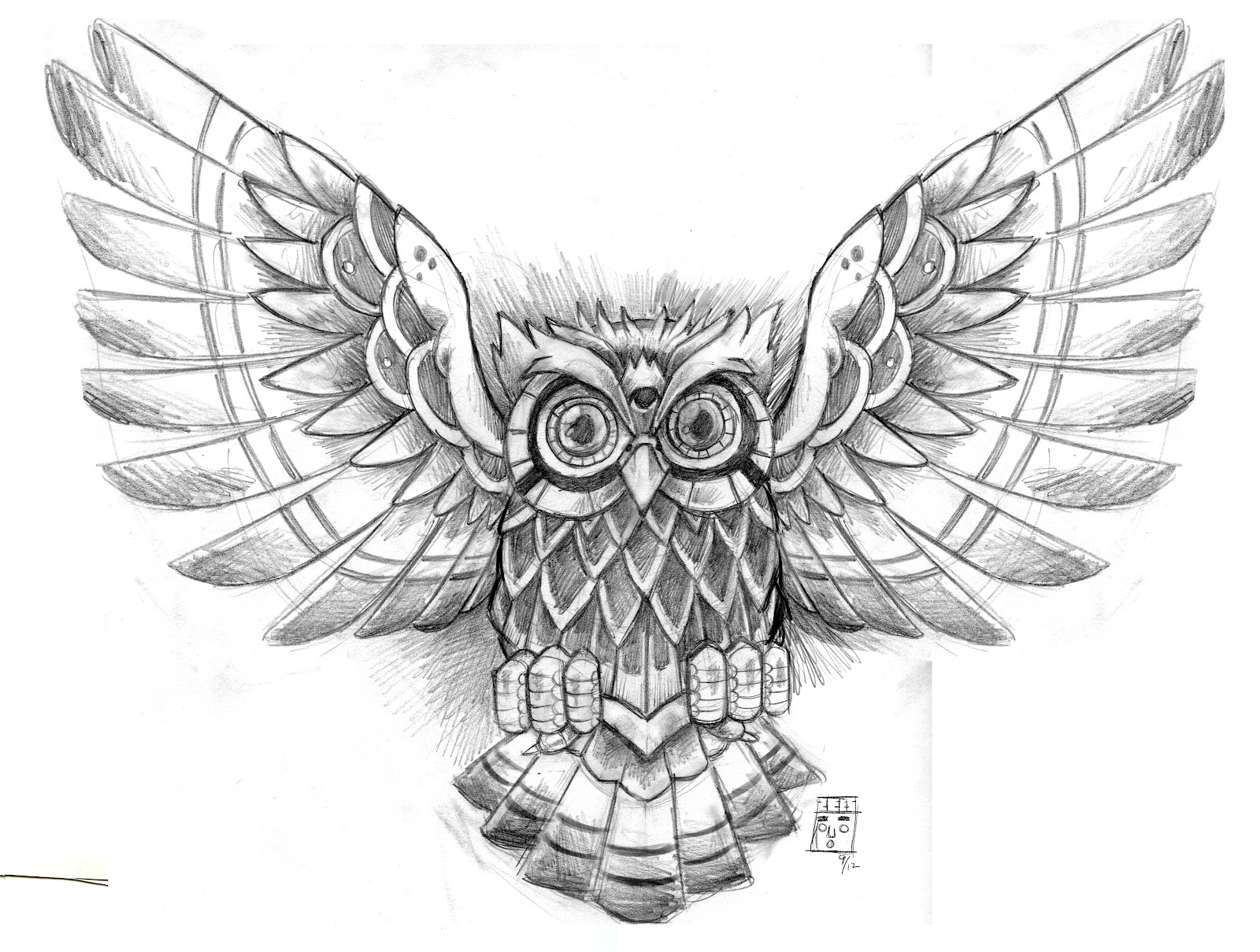 Grey Owl Tattoo Design photo - 1