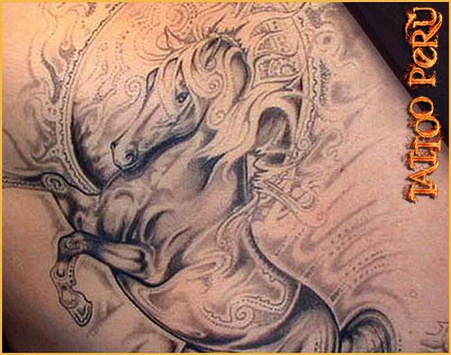 grey rearing horse muscles tattoos in 2017 real photo pictures images and sketches tattoo. Black Bedroom Furniture Sets. Home Design Ideas